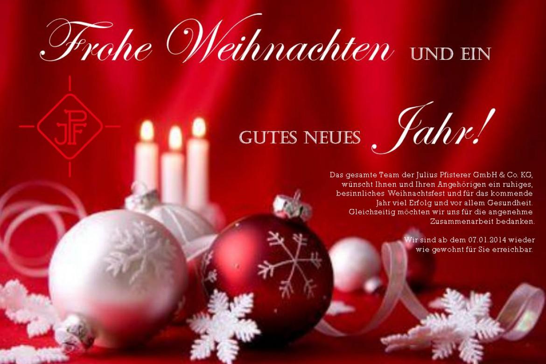 Bilder Weihnachten Neues Jahr.Frohe Weihnachten Und Ein Gutes Neues Jahr Juliuspfisterer Gmbh