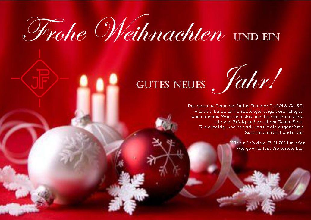 Frohe Weihnachten und ein gutes neues Jahr – Juliuspfisterer GmbH ...