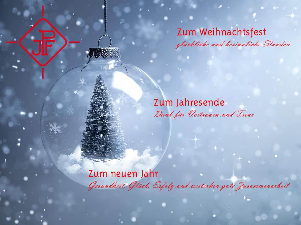 Wir wünschen Ihnen frohe Weihnachten und ein erfolgreiches, glückliches und gesundes Jahr 2020
